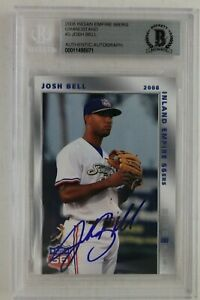 Josh-Bell-Pirates-Autographed-2008-Grandstand-Signed-Rookie-Card-Beckett
