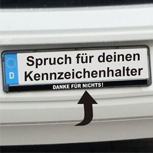 Kennzeichen-Aufkleber-DANKE-FUR-NICHTS-Sticker-K010-weiss-auf-schwarz