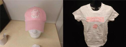 New Reebok Georgetown Hoyas Youth Girls Sizes S-L-XL Shirt /& Hat Combo
