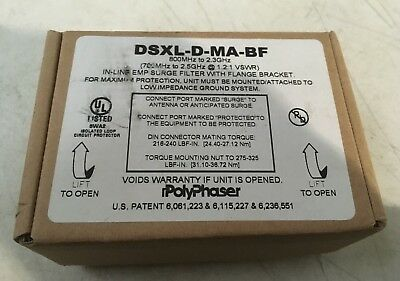 Polyphaser DSXL-D-MA Surge Filter 800MHz to 2.3GHz New