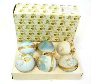 Vtg-Enesco-Precious-Moments-Christmas-Tree-Ornament-Light-Bulb-Covers-S-Butcher