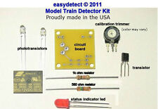 O SCALE MODEL TRAIN DETECTOR KIT with 12 volt relay FOR CROSSING  ACTIVATION