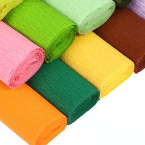 1-Rouleau-Papier-Crepe-pour-Papier-Fait-Main-Fleur-Mariage-Fete-D-039-Anniversaire-Decoration