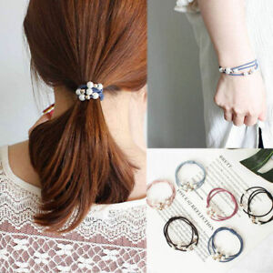 5X-Women-Elastic-Ponytail-Holder-Pearl-Hair-Tie-Ring-Rope-Hair-Bands-Accessories