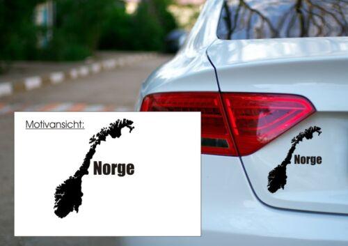 Länder Reif für den Norden Urlaub Autoaufkleber KFZ Aufkleber NORWEGEN