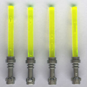 4-x-STAR-WARS-lego-LIGHT-GREEN-LIGHTSABERS-jedi-sith-minifig-weapons-clone-wars