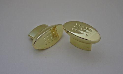 Möbelknopf Möbelgriff Gold glänzend Breite 43mm