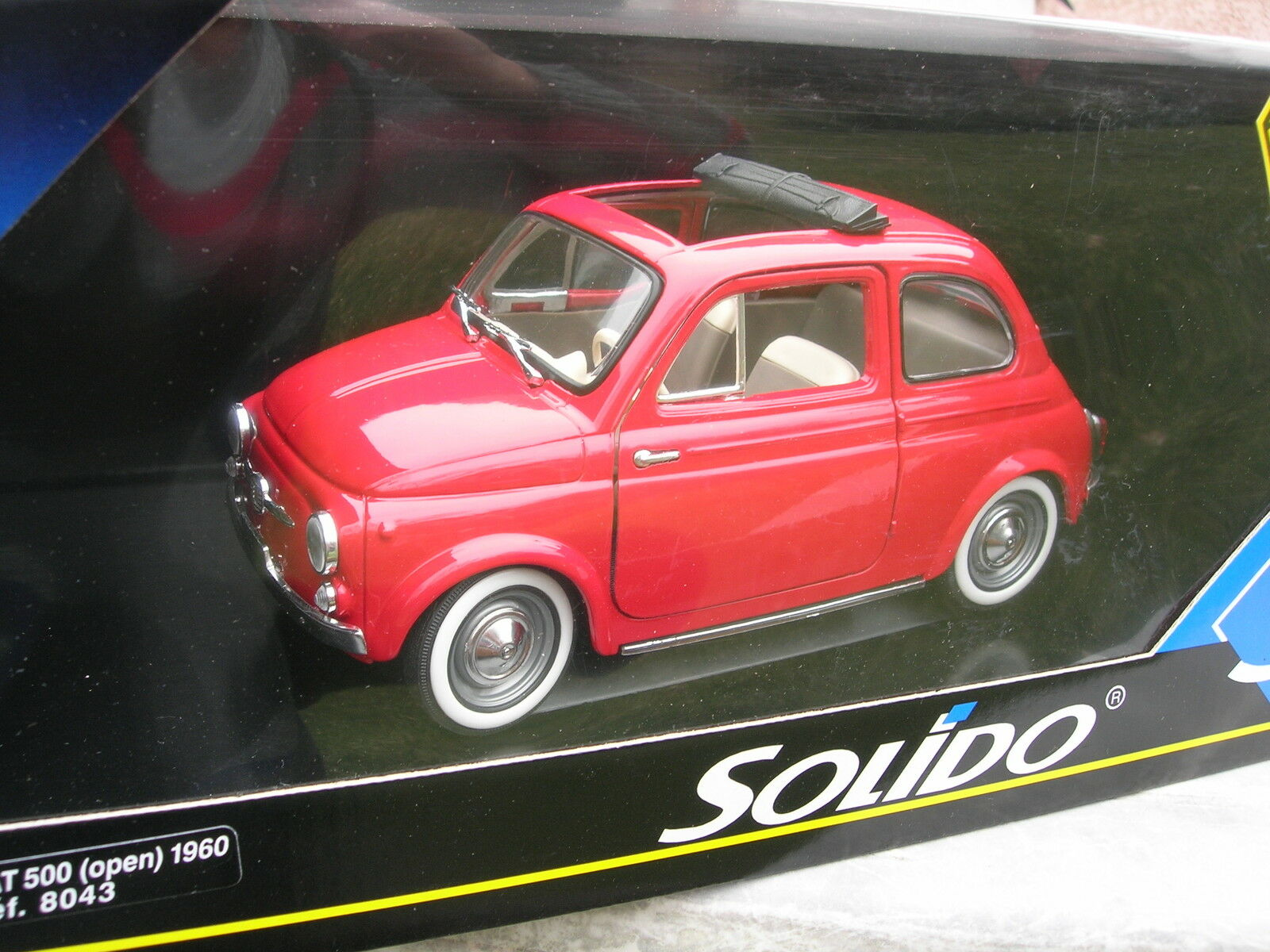 SOLIDO 1 18 METAL FIAT 500 Decouvrable Rouge 1 16