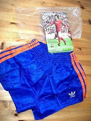 Adidas Shorts Glanz Sprinter Nylon Hose Vintage Sporthose D 3 / Blau Orang