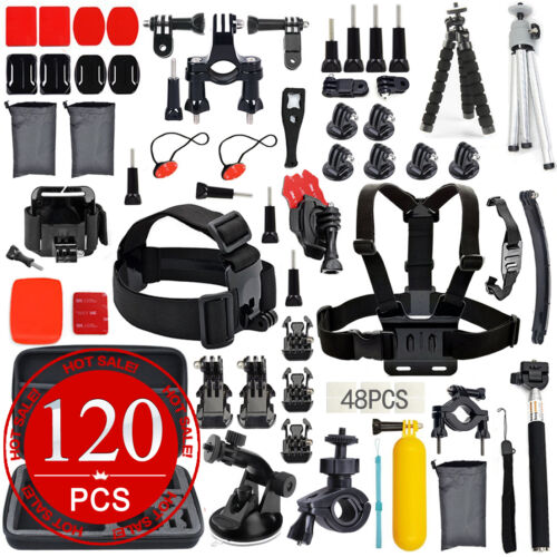 1 of 1 - Accessories Pack Case Chest Head Floating Monopod F. GoPro Go pro Hero 5 4 3+  2