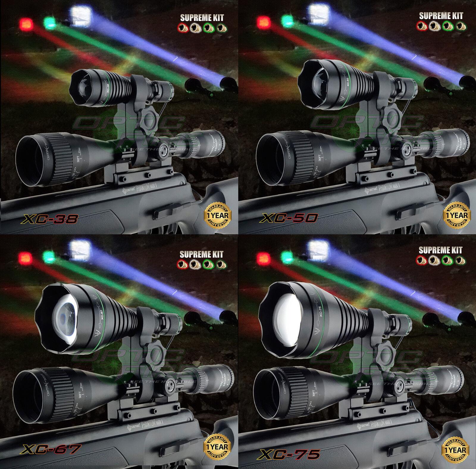 Opticfire® XC 4 LED High power  supreme hunting torch light scope lamp lamping  luxury brand