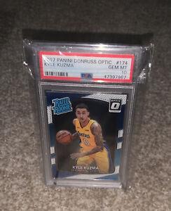 2017 Panini Donruss OPTIC #174 Kyle Kuzma RC Rookie PSA 10 GEM MINT Lakers