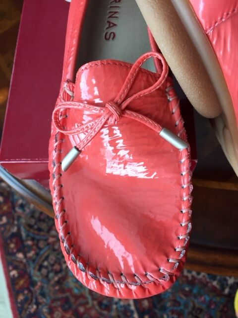 NEW Loafer SABRINAS KIOWA CHAROL shoes - Coral Patent Leather Leather Leather  Size 38 M 7.5 b0bd7b