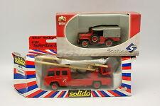 Solido 1/50 - Lot de 2 Pompiers Berliet Nacelle et Dodge