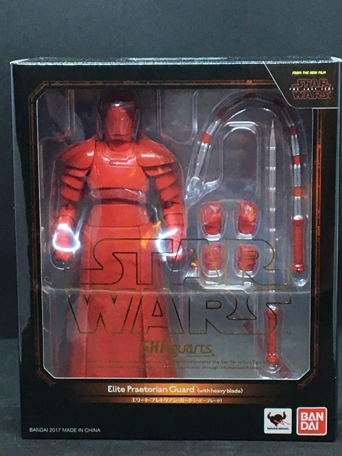 Bandai S.H. Figuarts Estrella Wars-elite Guardia pretoriana Pesado Hoja el último Jedi