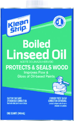 Klean Strip Boat Marine Boiled Linseed Oil Classic Wood Finish /& Protectant 1QRT