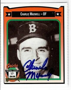 Charlie-Maxwell-Signed-1991-Crown-Card-283-Baltimore-Orioles