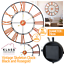 EXTRA-LARGE-ROMAN-NUMERALS-SKELETON-WALL-CLOCK-40-60CM-BIG-GIANT-OPEN-FACE-ROUND miniatura 69