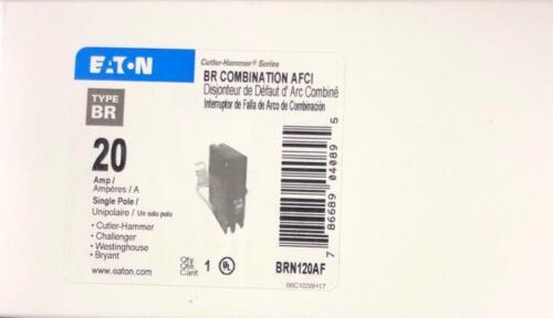 CUTLER HAMMER EATON BRN120AF BRCAF120 20A ARC FAULT AFCI BREAKER NEW IN BOX