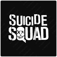 Suicide Squad Vinyl Decals Stickers, Joker Harley Quinn Batman Villain Comics