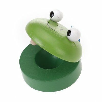 Baby Animal-Patterned Round Wooden Castanet Musical Instrument Toy PK