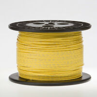18 Awg Gauge Stranded Hook Up Wire Yellow 1000 Ft 0.0403 Ul1007 300 Volts