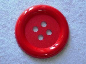 Responsable 1 Bouton Clown Geant 62 Mm Plastique Coloris Rouge