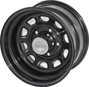 Black Steel Wheel 15X8 5x4.5 for Jeep Wrangler FREE CENTER ...