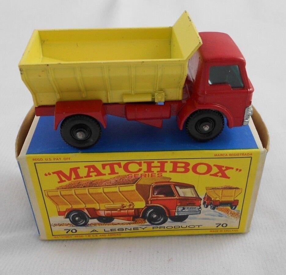 barato y de alta calidad Vintage Vintage Vintage 1960s Matchbox Lesney  70 Grit difundir camión con caja tipo E4 como nuevo Ford  respuestas rápidas