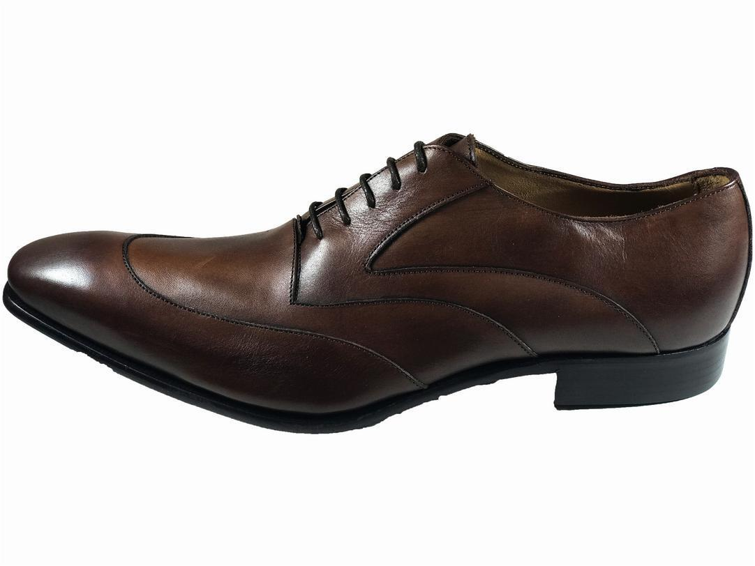 Brown Handmade Italian Leather Dress shoes Oxford Office shoes  Formal  Size 46