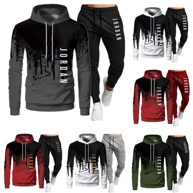 NEU Herren Jogginganzug Sportanzug Trainingsanzug Sweatshirt Hoodie Hose Jogging