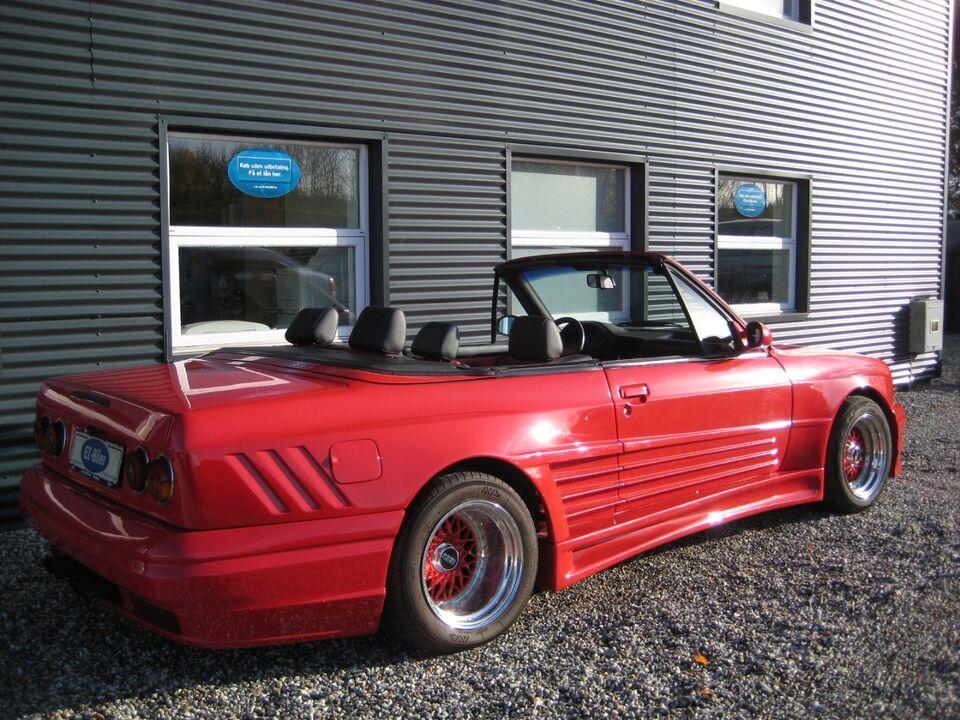 BMW 325i 2,5 Cabriolet Benzin modelår 1986 km 139000 Rød