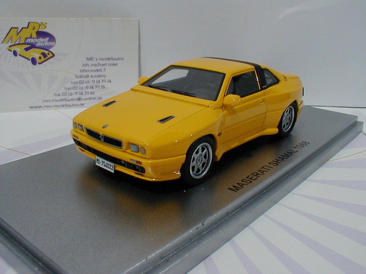 Fort de 43014022-maserati shamal Voiture de sport année de fabrication 1988 in  jaune  1 43 NEUF