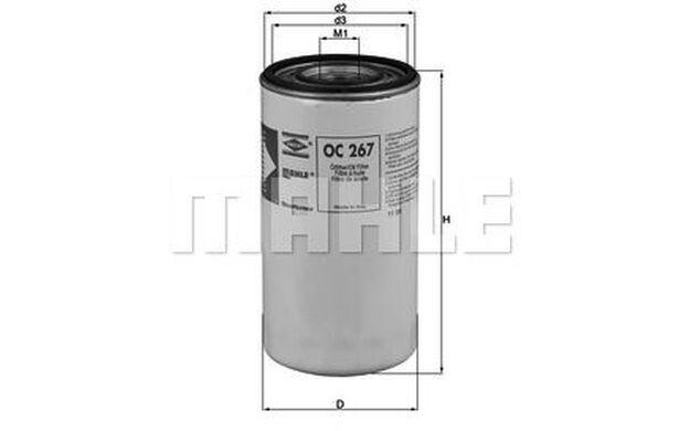 KNECHT Filtro de aceite OC 267