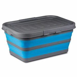 Kampa-Storage-Box-Blue-Collapsible-Camping-Storage-Caravan