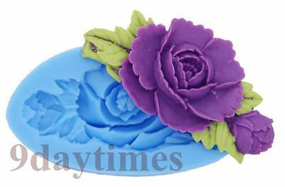 Rose Flower Silicone Molding Mould For Polymer Clay Craft Jewellry 70mm A305