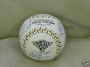 2006-All-Star-Team-Signed-Ball-Pujols-Howard-PSA-DNA