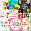 thumbnail 2 - Doodlecards Pack of 10 Square Contempory Mixed Birthday Cards