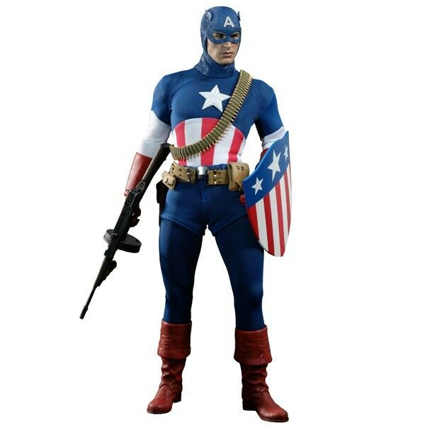 The First Avenger Movie Masterpiece Captain America Collectible Figure