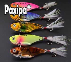 5pcs-VIB-Spoon-Blade-Metal-Fishing-Lure-Bream-Bass-Flathead-5-5cm-12g