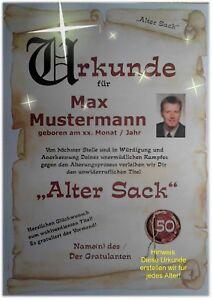 Urkunde-Club-der-alten-Saecke-18-20-30-40-50-60-70-Geburtstag-Deko-Geschenk-C1