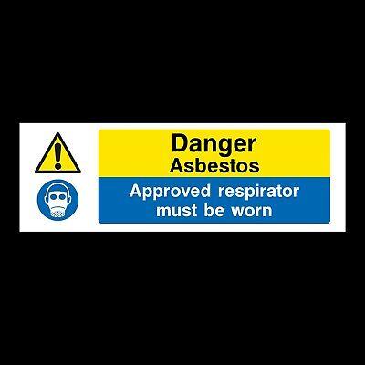 Danger Asbestos Sign 200mm X 300mm Rigid Plastic