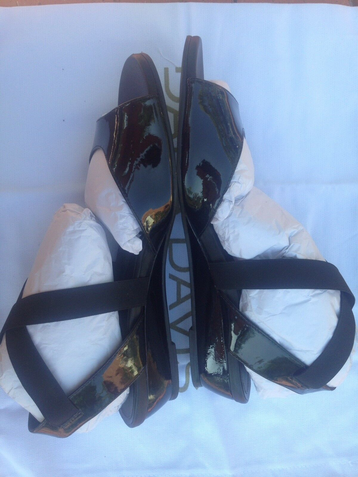 NEW in Box DANA DAVIS Black Patent Leather Susie Susie Susie Sandals Size 10 shoes Orig.  370 c2c3d7