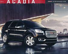 2014 GMC Acadia and Denali 36-page Canada Car Sales Brochure Catalog