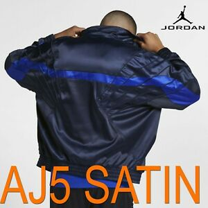 MEN-039-S-NIKE-X-AIR-JORDAN-SPORTSWEAR-AJ5-SATIN-JACKET-FULL-ZIP-BLUE-AR3130-451-2XL