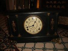 Antique Sessions Art Deco Mantel Clock-Goldenrod-Lovely Details-LQQK
