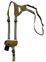 Barsony Natural Tan Leather Shoulder Holster Beretta, Taurus Mini 22 25 380