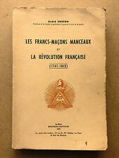 Les francs-maçons manceaux et la Révolution française (1741-1815) numéroté 1858