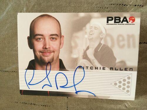 2007 PBA Bowling autographe Ritchie Allen