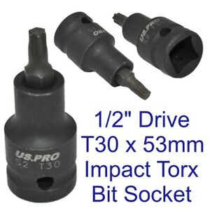Impact-Torx-Bit-Socket-T30-x-53mm-1-2-Inch-Drive-Short-Impacted-Star-Male1697